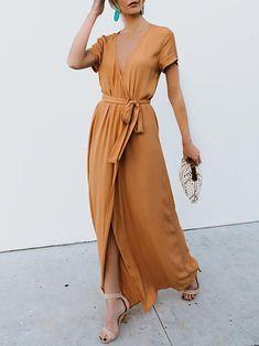 c7e0995f7a A-line Cotton Elegant Short Sleeve Summer Dress
