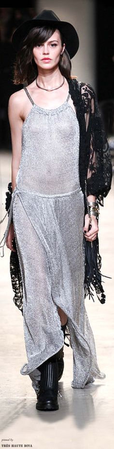 Paris FW Zadig & Voltaire Spring 2014 Ready-to-Wear #Boho #Streetstyle v