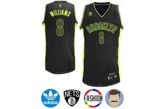 d44d65234 Men s Deron Williams  8 Black Swingman Fashion Jersey. Deron Williams