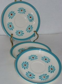 3 Homer Laughlin Vintage Fiesta Ware Fiestaware by diantiques