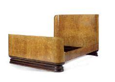 Art Deco maple bed