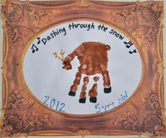 Christmas Craft: Handprint Reindeer Keepsake