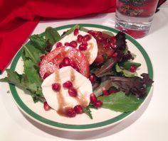 Mystery Lovers' Kitchen: Tomato Mozzarella Salad with Pomegranate Seeds #recipe @Daryl Wood Gerber a.k.a. Avery Aames