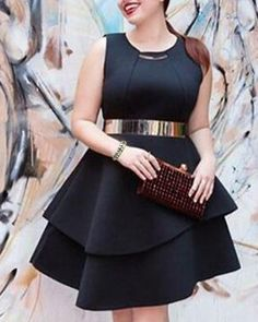 stylish plus size scoop neck geometric top for women | scoop neck