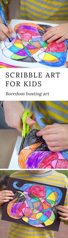 My kids' sketchbooks are full of Scribble Art! It's their go-to kind of drawing for relaxation, keeping themselves busy on road trips, and being creative. via @https://www.pinterest.com/fireflymudpie/