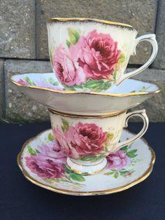 Royal Albert American Beauty Pink Rose Vintage by CupandOwl