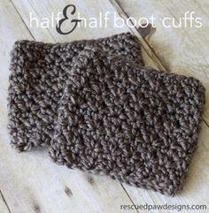 Half & Half Boot Cuffs Crochet Pattern from Rescued Paw Designs