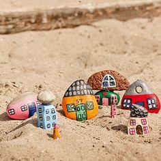 Mini-by i sandet