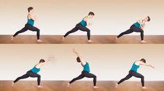 Crescent core yoga sequence