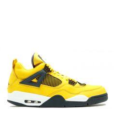reputable site ef3b3 4aa46 Air Jordan 4 Retro Ls Lightning Tour Yellow Dark Blue Grey White 314254 702