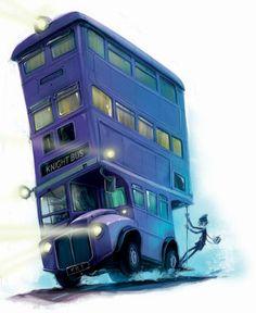 Harry Potter Fan Art, the Knight Bus from Prizoner of Azkaban Harry Potter Fan Art, Magie Harry Potter, Objet Harry Potter, Classe Harry Potter, Harry Potter Disney, Harry Potter Books, Harry Potter Universal, Harry Potter Fandom, Harry Potter World