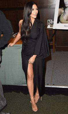 Showing off some leg: The 34-year-old Kardashian Kollection designer put her best foot forward at the event