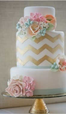 chevron...this is what I would have done if I redid my wedding cake!