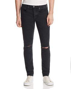 rag & bone Fit 1 Super Slim Fit Distressed Jeans in Shelter Men - Bloomingdale's Skinny Fit Jeans, Slim Jeans, Men's Jeans, Shop Rags, Distressed Jeans, Jeans Size, Black Jeans, Mens Fashion, Shelter