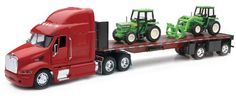 Peterbilt Truck with Flatbed Trailer and 2 Farm Tractors: Diecast and Plastic Model - 1:32 scale New Ray http://www.amazon.com/dp/B003UI2D22/ref=cm_sw_r_pi_dp_FWg6wb1S2YDAJ