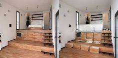 Как на 20 м.кв. устроить кухню, сппльню, гостиную, систему гранения и....получить чистое пространство  http://www.studioata.com/index.php?content=lavori=16=CI=Interni