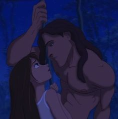 I believe with all my heart that this is the scene Tarzan truly falls in love with Jane and doesn't even realize it