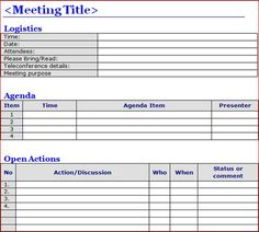 printable template of meeting minutes formal meeting minutes