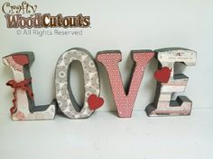 Image result for LOVE WOODEN HEART CUTOUTS BLOCKS