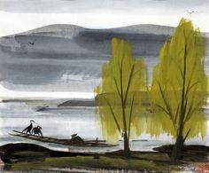 Lin Fengmian watercolour (est. £2000-£3000)