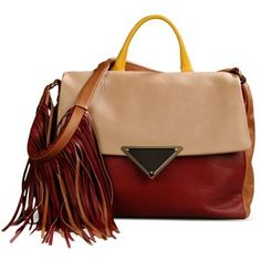 Sara Battaglia Medium Leather Bag