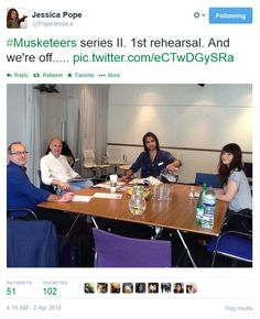 The Musketeers - Series 2 rehearsal. Tamla and Luke! D'Artagnan and Constance!