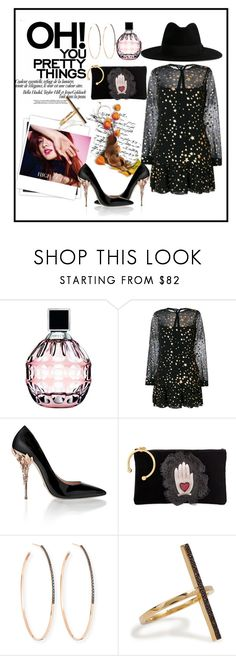 """black glamour"" by rindularas on Polyvore featuring Jimmy Choo, RED Valentino, GALA, Nana', Lana, Ileana Makri and Yves Saint Laurent"