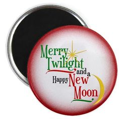 Merry Twilight and Happy New Moon Christmas Magnet