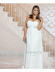Mulanbridal Elegant Applique Lace Wedding Dress Chiffon V Neck Plus ...