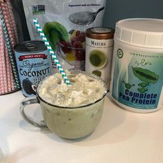 Try a Coconut Matcha Vegan Dalgona Treat made with Complete Pea Protein! Paleo Chocolate, Delicious Chocolate, Chocolate Flavors, Organic Coconut Cream, Yummy Drinks, Yummy Food, Paleo Protein Powder, Sugar Candy, Matcha