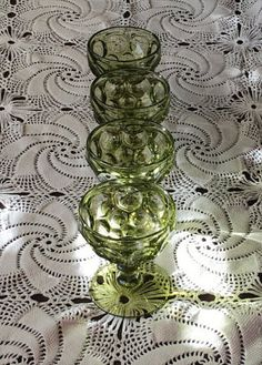 Imperial Glass Vintage Avocado Green 4oz by LuluAndMomsBoutique