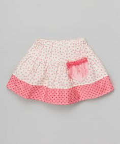 Look what I found on #zulily! Pink Daisy Spring Skirt - Infant, Toddler & Girls by Western Border #zulilyfinds