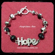 """""""Hope"""" bracelet www.reneewayne.weebly.com"""