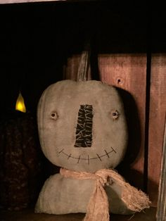 A personal favorite from my Etsy shop https://www.etsy.com/listing/243229123/very-primitive-pumpkin-shelf-sitter