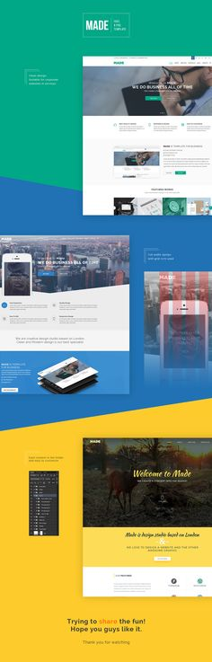 Made - A beautiful set of free 3 PSD website templates that has different layouts and color schemes which we are sure you gonna love.