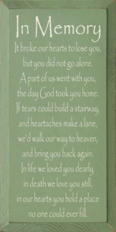 I love and miss you so much DAD xx