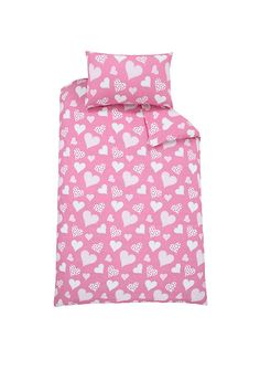 Hearts and Checks Duvet Cover Set (Buy One Get One FREE)