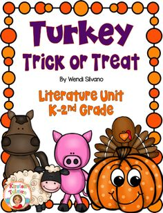 Turkey Trick or Treat Activities with Digital Distance Learning Option