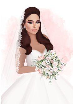 Wedding Illustration, Couple Illustration, Wedding Men, Wedding Cards, Wedding Drawing, Glamour Decor, Dress Pesta, Aesthetic Photography Grunge, Cute Love Images