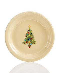 Don't know where I would put these but they're pretty cute! Fiesta Christmas Tree Appetizer Plate - Christmas Dining - For The Home - Macy's