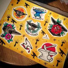 Anvils... #tattoo #anviltattoo #anviltattoodesigns #traditonalanviltattoo #traditionalanvil #traditionaltattoo #traditionaltattoodesign #tattooflash #tattooideas #tattoodesigns #rose #allseeingeye #allseeingeyetattoo #ink #hardtimes #hardtimestattoo #workingclass #workingclasstattoo #blacksmithanvil #blacksmithtattoo #instaink #instatattoo #iphone5s