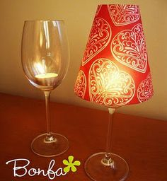 Great idea! Create this yourself with Candle Impressions tea lights and use card or craft paper as your self-made shade