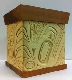 Killer Whale Bentwood box by James Michels