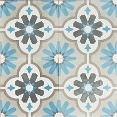 Moroccan Flower New Reproduction Encaustic Tile Tile Patterns, Textures Patterns, Print Patterns, Feature Tiles, Antique Tiles, Encaustic Tile, Tile Design, Kitchen Flooring, Interior Styling
