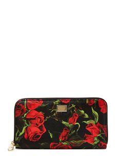Saffiano Leather Zip Around Wallet from Dolce & Gabbana