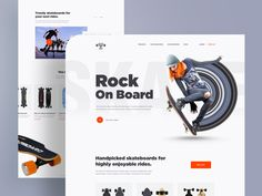Skateboard webstore designed by Arifur Rahman Tushar ➔ for Orizon. Connect with them on Dribbble; the global community for designers and creative professionals. Ios, Electric Skateboard, Landing Page Design, Web Design Inspiration, Show And Tell, App Design, Blog Design, Print Design, Graphic Design