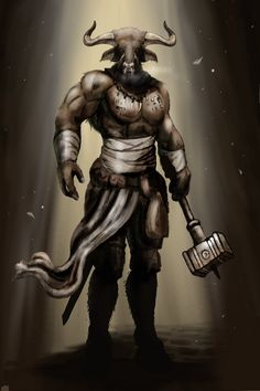 Scofflaw Scallawag Bull Who Half Man Theseus Battle With The Half Man Bull Hasn Imo Been Done Yet Pictures, Images, Photos Theseus Battle With The Half Man Bull Hasn Imo Been Done Yet - Cyllt. Fantasy Races, Fantasy Warrior, Fantasy Rpg, Medieval Fantasy, Dark Fantasy, Mythological Creatures, Fantasy Creatures, Mythical Creatures, Bull Tattoos