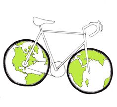 """""""A bicycle ride around the world begins with a single pedal stroke.""""  - Scott Stoll  Earth Bike from Forward and Towards Blog"""