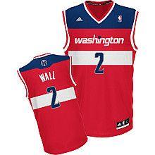adidas Washington Wizards John Wall Youth (Sizes 8-20) Revolution 30 Replica Road Jersey - NBAStore.com