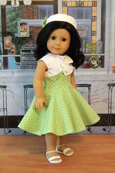1950's Dress and Hat for 18 Inch Dolls by BabiesArtUs on Etsy. $69.00